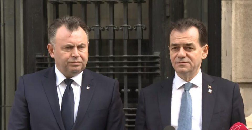 Excepțiile purtării măștii, motiv de ceartă între Ludovic Orban și Nelu Tătaru, susțin surse guvernamentale