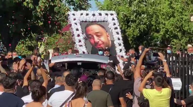 Polițiștii au păzit înmormântarea liderului clanului Duduianu