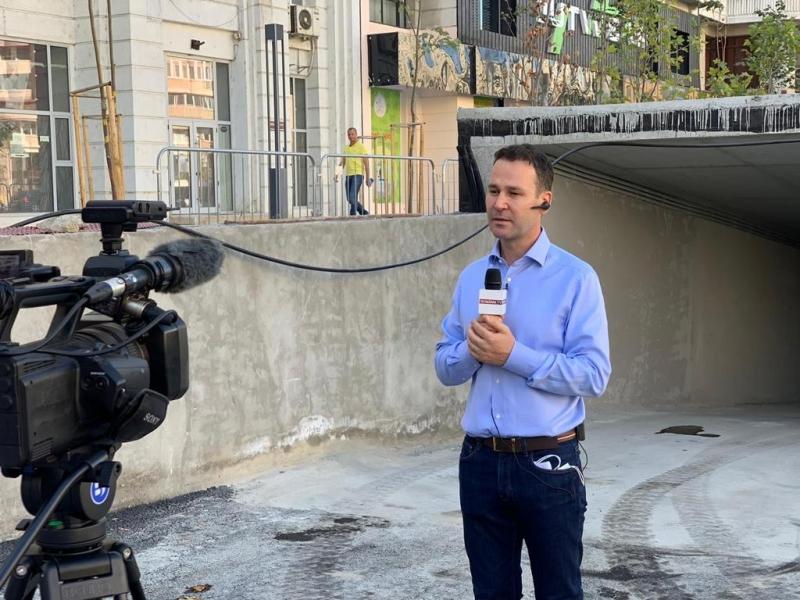 Robert Negoiță a prezentat o parcare subterană care nu e gata